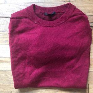 ⬇️65 J Crew Red Crew Neck Sweater M